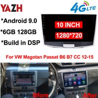 "6GB 128GB Auto Radio GPS الملاحة ل VW Magotan Passat B6 B7 CC 2012-2015 Android 9.0 Head Unit DSP Car DVD ستيريو 10.1 ""عرض"