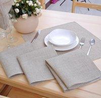 12 Pcs/lot Linen Napkins Poly Linen Cloth Table Dinner Napkins 42*42CM(16.5x16.5 inch) Wedding Part1