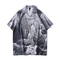Hawaii Gömlek Erkekler Yaz Plaj Tatil erkek Gömlek Vintage Sokak Erkek Top