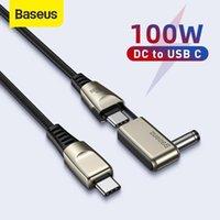 Baseus 100W USB C till DC Strömkabel USB C Till Round / Square DC Strömförsörjning Snabb Laddare Kabel för bärbar dator Tablet HUB Data1