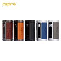 ASPIRE VROD 200 BOX MOD 200W ile 0.96 inç TFT Renkli Ekran Alüminyum Alaşımlı Deri Malzemesi İkili 18650 (Dahil Değil)