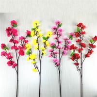 Lange kurze Stil Hochzeitsdekor Blumen Künstliche Kirschblüten Mode Bäume Indoor Home Party Supplies Getrocknete Blume Zweig 2 49HR G2