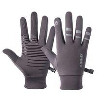 Мужчины женщины отражают светло-полосу ночной бегущие перчатки осень зима на открытом воздухе велосипедный мотоцикл полный палец перчатка lj201215