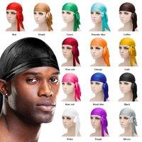 الذيل مطاطا حريري Durags بونيه أزياء متعددة الألوان الناعمة التفاف رئيس قبعة طويلة اكسسوارات الشعر الهيب هوب قبعة النساء الرجال 2 F2 5dc