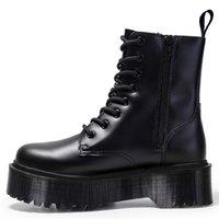 Jadon 8-eye boots 여성 높은 플랫폼 발목 신발 chunky 여자 가죽 오토바이 숙녀 패션 여성 부츠 42 201215