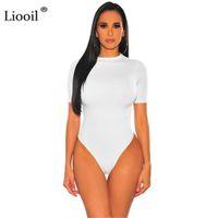 vente en gros rouge blanc noir serré Costume Jumpsuit Bodysuit Sexy Body Tops Femmes 2021 Automne Hiver manches longues O Neck moulantes barboteuses