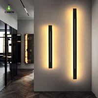 Éclairage mural long moderne à LED 85-265V fer noir noire Shell 100cm 120cm Salon d'intérieur Sconce Lumière de chevet