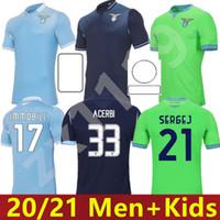 20 21 Lazio Soccer Jersey 120th 2020 2021 Lazio 120 ANNI Football Shirt Luis Alberto Incobile Sergej Men Kids Kits Mailleot Maglia Da Calcio
