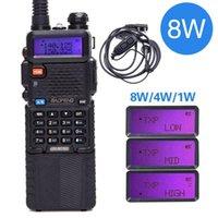 Baofeng UV-5R 8W Walkie Talkie Professional CB Station Pofung UV5R HF Transceper VHF UHF Portátil UV 5R Caza Ham Radio