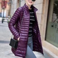 Por la chaqueta nueva hembra en 2020 invierno de la capa larga y delgada delgada mujer edredón ropa de abrigo