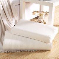 Almohada de látex Durmiendo Memoria de bambú Espuma Almohadas ortopédicas Oreiller Almohada Travesseiro Almohada Cervical Almohada de Látex 201219