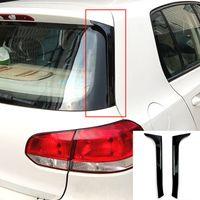 För VW Golf 6 MK6 Bakre sida Wing Roof Spoiler Stickers Trim Cover Gloss Black