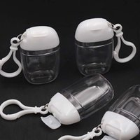 30 ml Boş El Temizleyici Şişe Plastik Kanca Anahtarlık Ayrı Şişeleme Temizle Pet Sıkmak Şişeler Sıcak Satış 1 2PH G2