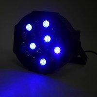 Rabatt 30W 18-RGB LED Auto / Sprachsteuerung Premium Material Mini Bühnenlampe (AC 110-240V) Schwarz * 4 Hochzeitsfest Moving Head Lights