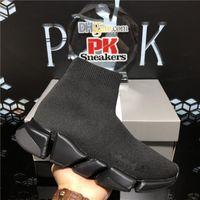 Высочайшее качество Мода вязаные носки обувь Скорость тренера высокогонка бегуны мужские женские сетки дышащие черные белые скольжения на тройных повседневных кроссовки с Wox