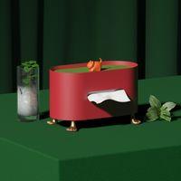 Металлическая ткань коробка бумаги контейнер коробка роскошный железо дома гостиная ресторан отель настольные салфетки бумаги