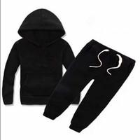 Nuevo clásico lujoso logo diseñador bebé camiseta pantalones abrigo Jacekt Sudadera suéter Olde traje niños moda 2pcs algodón ropa de ropa