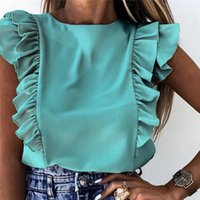 2021 verão feminino blusa blusa de manga curta o pescoço elegante escritório senhoras camisa tops moda casual sólido top top para mulheres