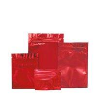 1000 قطع الأحمر لامعة احباط أكياس تغليف المواد الغذائية الأكياس ziplock الحقائب المكسرات الشاي القهوة حبوب التعبئة حقيبة