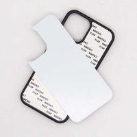 Caso en blanco para el iPhone 11 / Pro / Pro máximo iPhone 12 (6.1 / mini5.4 / 6,7 pulgadas) Sublimación Imprimir borde de silicona TPU + PC caja del teléfono cáscara del teléfono móvil