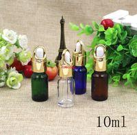 Livraison Gratuite 10ml Glass Vide Pack Pack Boutly Bouteilles de compte-gouttière Top grade Mini Perfume Essential Essential Exemple d'échantillon conteneur d'emballage