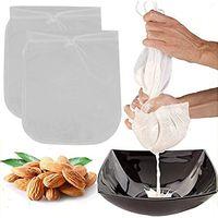 2 шт. / Лот ореховая сумка для молока Фильтр сетка мешок многоразовый кофе сок нейлоновые пищевые фильтр 11,8 х 11,8 дюйма несколько фильтр HHA1680