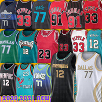 23 MJ Jersey 77 Luka 12 JA Morant Doncic Basketball 33 Scottie Pippen Dennis Rodman Dirk Kristaps Nowitzki Porzingis Trikots Dalla Jackson