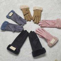 Les gants d'automne européens et américains de dames d'hiver sont chauds et à la mode