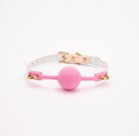 Sesso rosa in silicone bocca gag palla a sfera cintura color bdsm bondage restrizioni aperte giocattoli per adulti coppia donne giochi