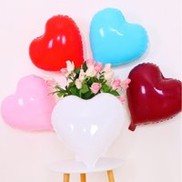 18 بوصة على شكل قلب الألومنيوم احباط بالونات عيد الحب الديكور 50 قطع الملونة حفل زفاف الحب الألومنيوم احباط البالونات VTKY2171