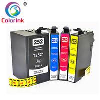Cartouche d'encre Coloink 252 T2521 pour la main-d'œuvre WF-3620 WF-3640 WF-7610 WF-7620 WF-7110 WF-7710 WF-7720 WF-7720 WF-7210