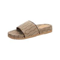 2021 Nuovo arrivo Mens Luxe Pantofole piatte laterale Crisscross Canvas Slides Sandali con plantare coperto e intersuola