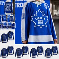 Juventude Toronto Maple Leafs 2020-21 Reverse Retro Jersey Joe Thornton 34 Auston Matthews John Tavares Frederick Andersen William Neland Rielly