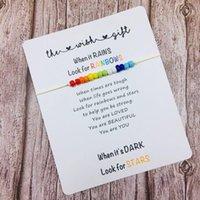 Charm Bilezikler 12 adet Toptan Eşcinsel Gurur Bilezik Gökkuşağı Basit Tasarım Parti El Yapımı Hediye Arkadaşlık için Düğün Bilezikler1