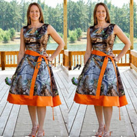 Country style camo kurze brautjungfer kleider knielänge plus größe von ehrenhochzeit braut kleid billig