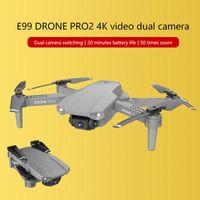 RC Mini Drone LSKJ E99 PRO2 4K HD Doble Kamera WiFi FPV Transmisión en tiempo real Transmisión profesional Fotografías Plegables Quadcopter Juguetes