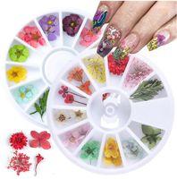 Nouveaux Types 3D Fleurs séchées Nail Art Décoration DIY Beauté Petal Sticker Floral Decal Sticker Gel de fleur Dry Gel Polonais