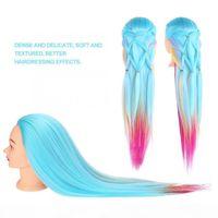 Manken Başkanı Kuaförlük Uygulama Başkanı Manken Styling Eğitim Kafası Kelepçeli Gökyüzü Mavi Renk Manken Hairstyles