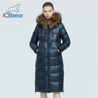 куртка женской моды пальто IceBear бренд женщин с енота мехового воротника случайной зимой женской курткой GWD20268I 201118