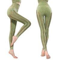 Gymfever Sans Couts Engrenage En maille Haute Élasticité Pantalon de Yoga serré Respirant Fitness Leggings Femme Sports Leggings Q0126
