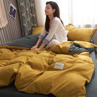 Shater Luxury Bedging Set Современные простые одежды наборы наборы King Size Onle Double Queen Collen Beyen Взрослые Желтые постельное белье Листы