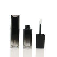Quadratische Kleine Volumen Lip Gloss Rohr Schwarz Gradientenlippe Glasur Subflasche DIY Custom Makeup Lip Glaze Tube Leere Tube