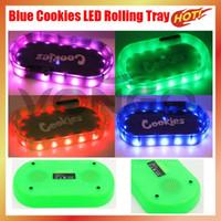 Galletas Bluetooth LED Bandeja Modo de fiesta GlowTray LED Galletas Rolling Glow Bandeja con altavoz Bluetooth Blanco Runtz Backwoods para Rolling RuTz