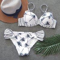Fallindoll Femmes Bandeau Pie-à-Plage Porter Maillot de bain Maillot de Bain Push up Bikini Maillot de bain Brésilienne Bikini Baignoïdge Cuisson T200509