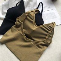 Mulheres beleza back tops tubo top feminino streetwear sem mangas camis sem costura esportes lingerie tee colheita tanque de bandeau