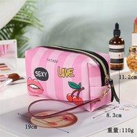الأزياء بو المرأة رسائل الحب القلب المطبوعة حقيبة مستحضرات التجميل الفتيات السيدات أكياس ماكياج سستة حقيبة يد متعددة الوظائف غسيل حزمة حمل GG12104
