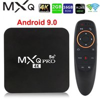 스마트 TV 박스 MXQ PRO 5GHz Android 9.0 4K HD 2.4G 5G WiFi Amlogic S905W 스마트 TV 2GB 16GB Android TVBox