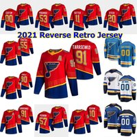 St. Louis Blues 2021 Reverse Retro Hóquei Jersey Alex Pietrangelo Jersey Robert Thomas Vince Dunn David Perron Brayden Schenn Custom Costume Costume