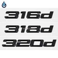 316D 318D 320D Auto Emblem Rückenzahl Brief Aufkleber für BMW 3 Serie F30 F31 F34 E21 E30 E36 E46 E90 E91 E92 E93 Auto Styling