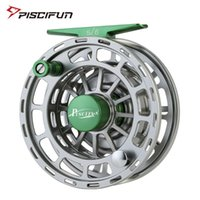 Piscifun Platte Green Pesca Reel 3/4 5/6 7/8 9/10 WT CNC Máquina Corte Carrete de pesca Gran Arbor Aluminio